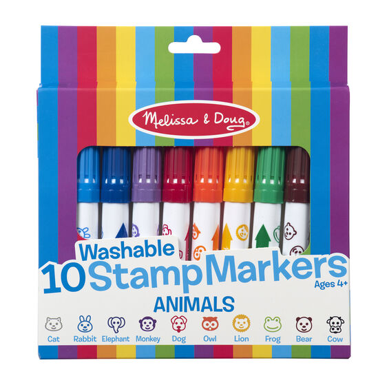 10 Stamp Markers - Animals