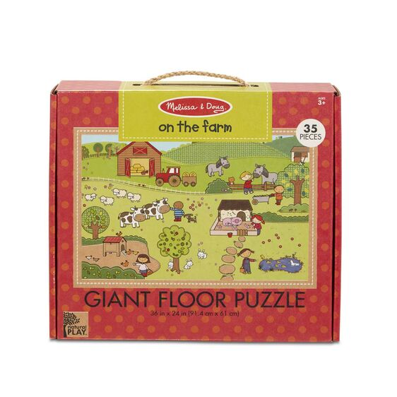 Natural Play Floor Puzzle: On the Farm