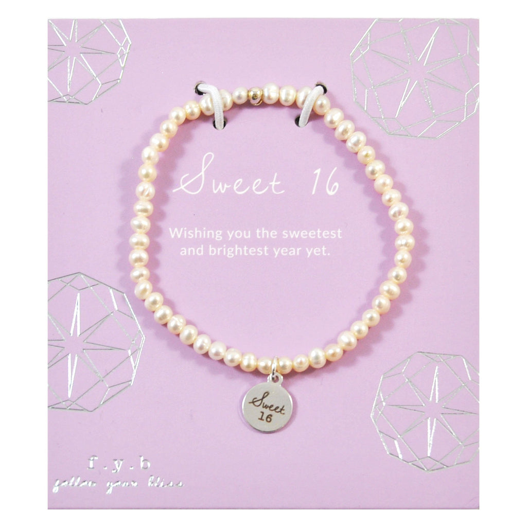 MINI FRESH WATER PEARL SWEET 16 SILVER
