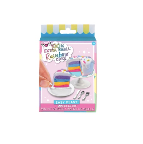 100% Extra SM. Rainbow Cake- Mini Clay Kit