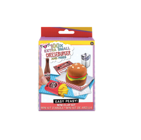 100% Extra SM. Burgers & fries- Mini Clay Kit