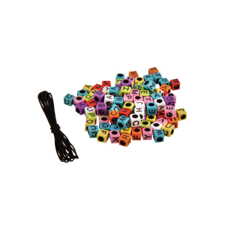 Tell Your Story Alphabet Bead Bag-Rainbow Cubes