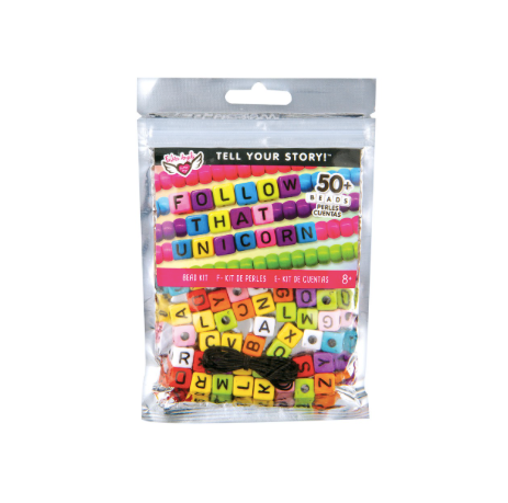 Tell Your Story Alphabet Bead Bag-LG Rainbow Cubes