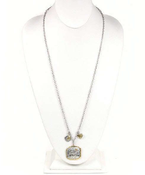 Two-tone Love Always Necklace