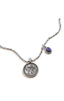 Archangel Michael Duo Charm 28 in Adjustable Necklace, RS
