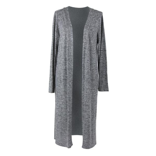 Carefree Threads Long Cardigan - Gray