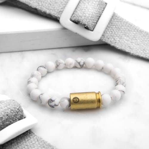 Howlite Warrior Bracelet, Small