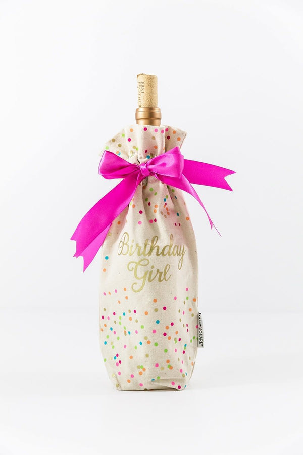 Canvas Wine Bag - Birthday Girl