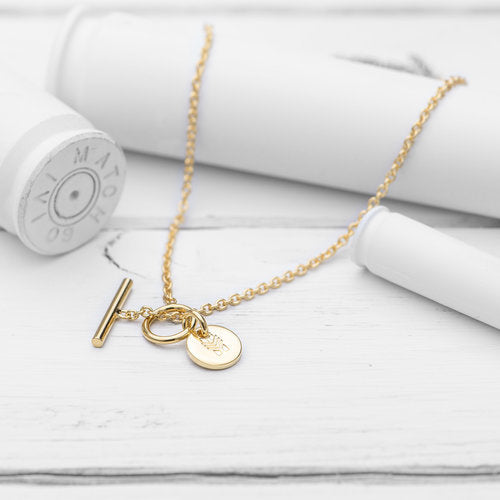 Charm Necklace, Gold Short