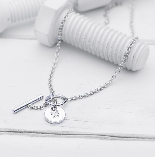 Charm Necklace, Silver Short