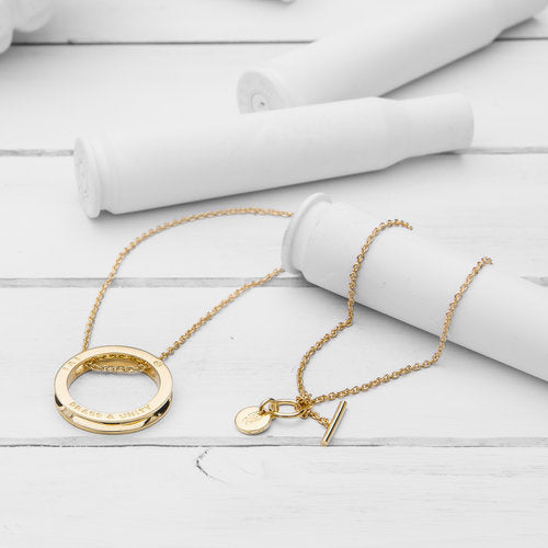 Unity Necklace, Gold Long
