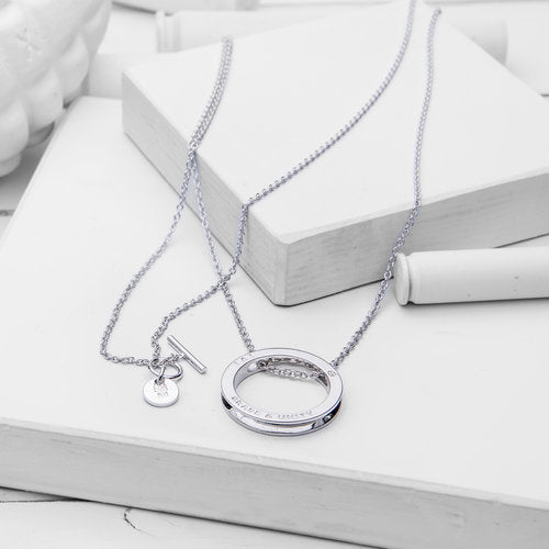 Unity Necklace, Silver Long