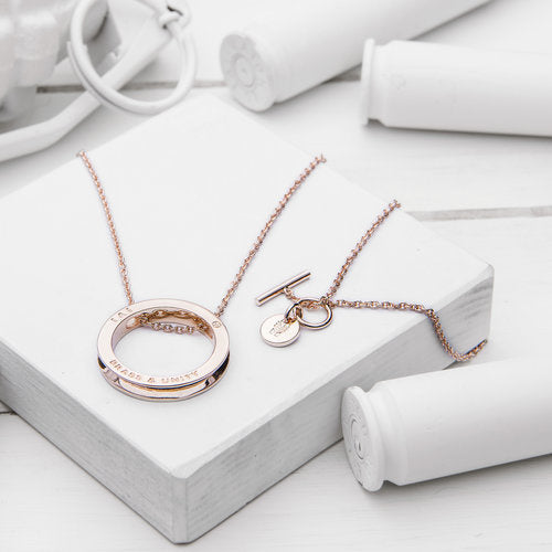 Unity Necklace Rose Gold, Long