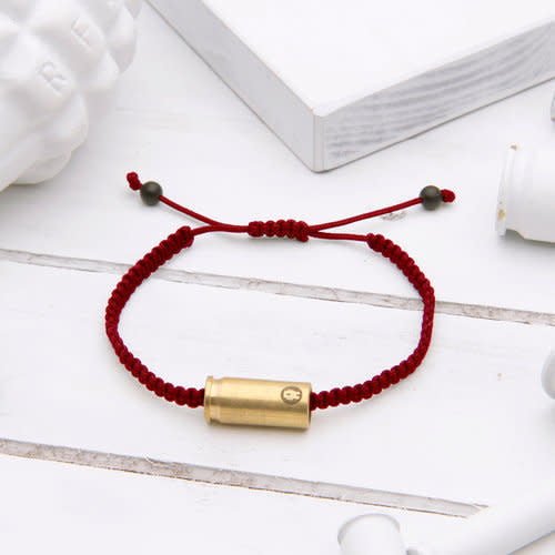 Maroon Warrior Adj. Rope Bracelet