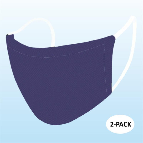 Primeware - Adult Reusable Face Masks, 2 Pack - Navy Blue