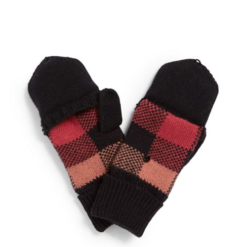 Cozy Convertible Mittens Garnet Buffalo Check