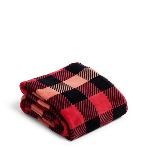 Plush Throw Blanket Garnet Buffalo Check