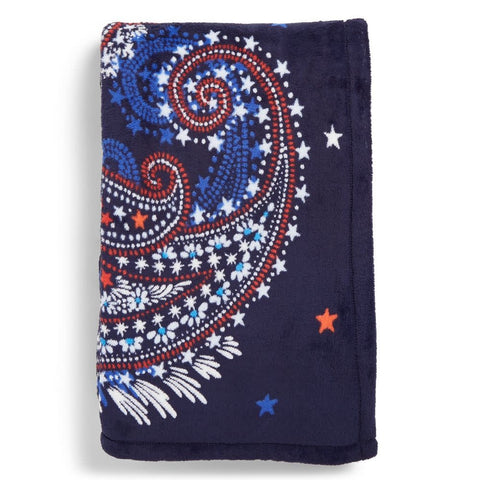 Plush Throw Blanket Fireworks Paisley
