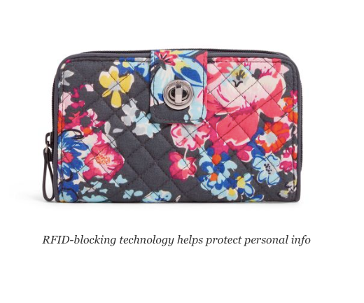 Iconic RFID Turnlock Wallet Pretty Posies