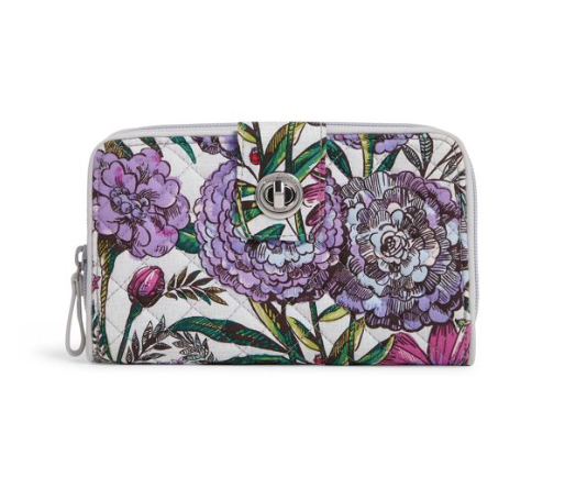 Iconic RFID Turnlock Wallet Lavender Meadow