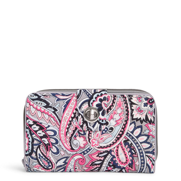 RFID Turnlock Wallet in Gramercy Paisley