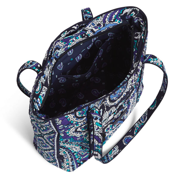 Small Vera Tote Bag in Deep Night Paisley