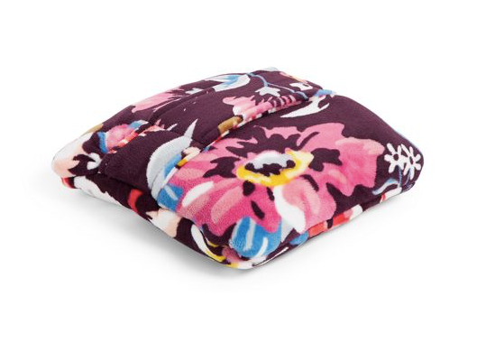 Plush Fleece Travel Blanket Indiana Blossoms