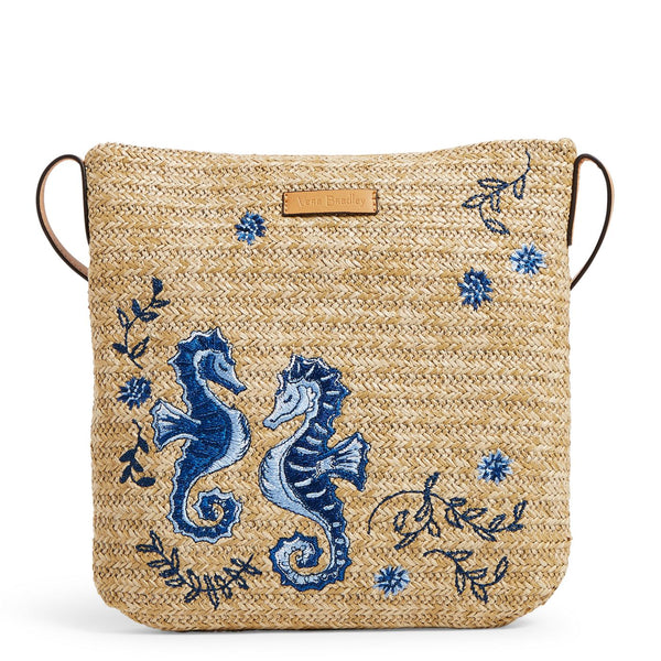 Straw Crossbody in Natural Sea Life