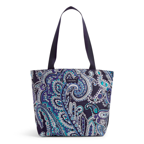 Lighten Up Shopper Tote Bag in Deep Night Paisley