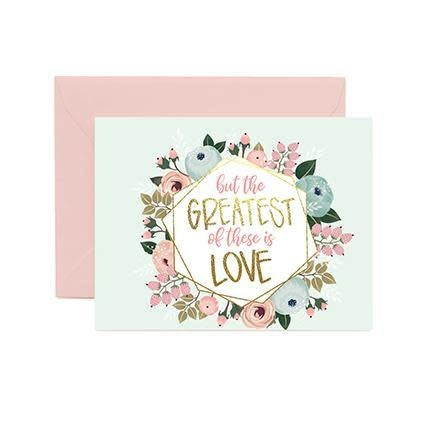Mary Square Greeting Cards - Greatest Of These