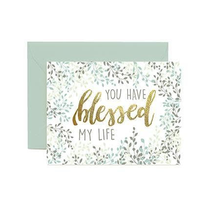 Mary Square Greeting Cards  - Blessed