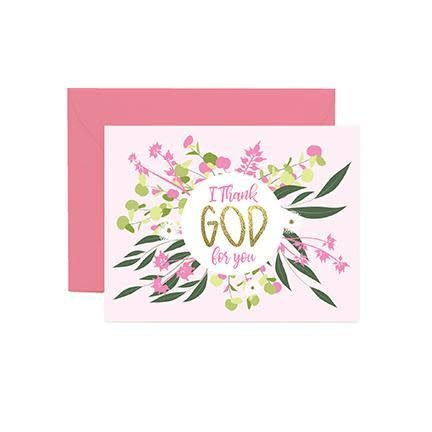 Mary Square Greeting Cards - I Thank God