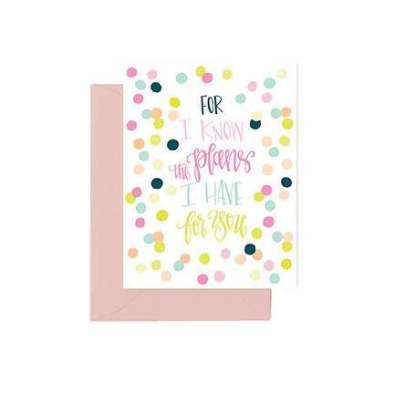 Mary Square Greeting Cards- I know The Plans