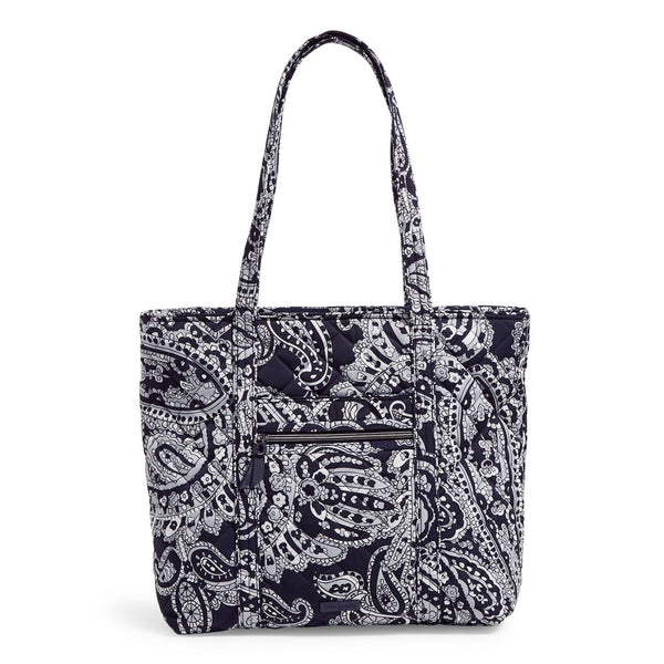 Vera Tote Bag in Deep Night Paisley Neutral
