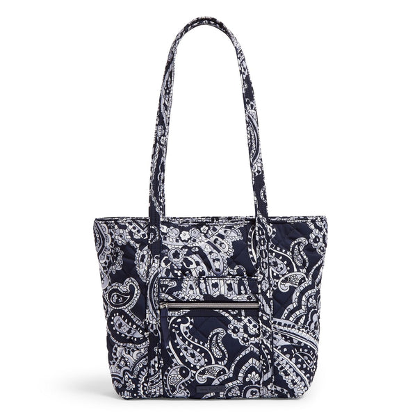 Small Vera Tote Bag in Deep Night Paisley Neutral