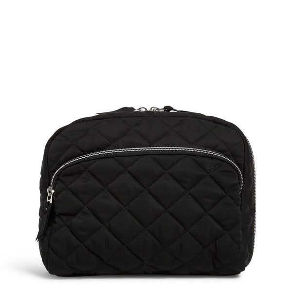 Lay Flat Cosmetic Bag in Black