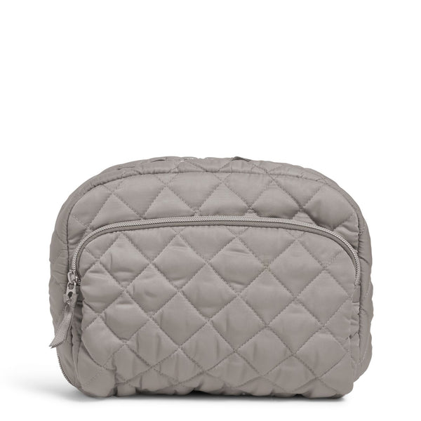 Lay Flat Cosmetic Bag in Tranquil Gray