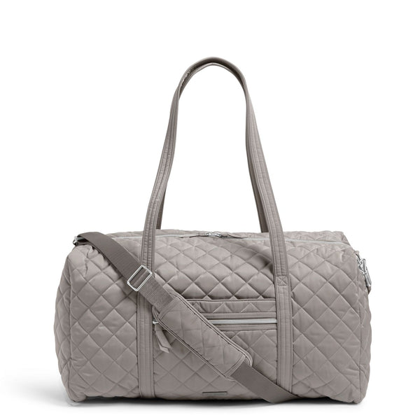 Lay Flat Travel Duffel Bag in Tranquil Gray