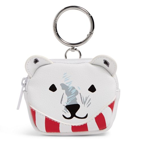 Polar Bear Coin Purse Bag Charm Beary Merry