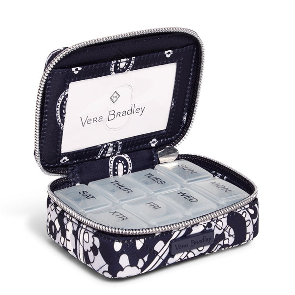 Travel Pill Case in Deep Night Paisley Neutral