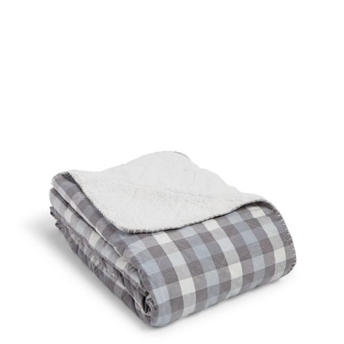 Cozy Life Blanket Neutral Buffalo Check