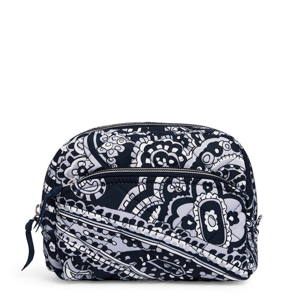Medium Cosmetic Bag in Deep Night Paisley Neutral