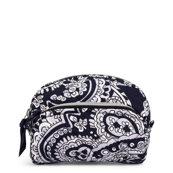 Mini Cosmetic Bag in Deep Night Paisley Neutral