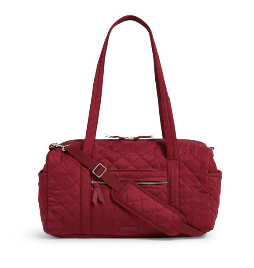 Iconic Small Travel Duffel Berry Red