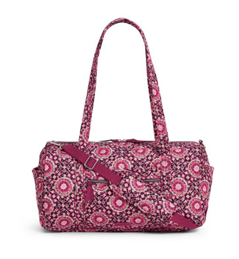 Iconic Small Travel Duffel Raspberry Medallion