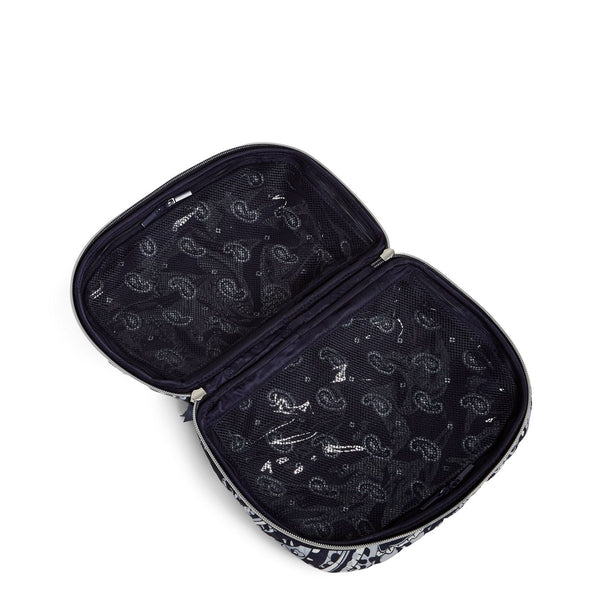 Lay Flat Cosmetic Bag in Deep Night Paisley Neutral