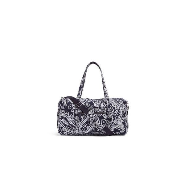 Lay Flat Travel Duffel Bag in Deep Night Paisley Neutral