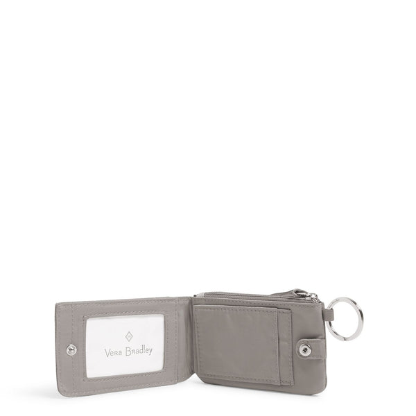 RFID Deluxe Zip ID Case in Tranquil Gray