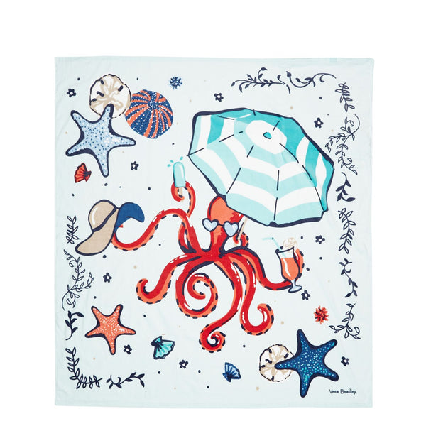Mint Sea Life Beach Blanket