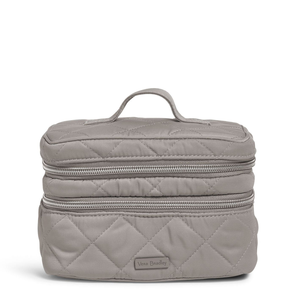 Jewelry Train Case in Performance Twill Tranquil Gray